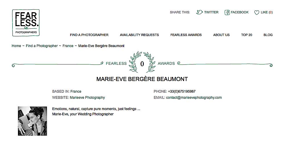 Phootgraphe Marie-Eve Bergère Beaumont